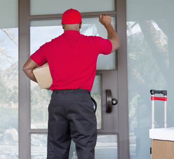 Delivery Personnel Knocking At the Door